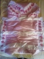 Конверт-одеяло на выписку из роддома для девочки.