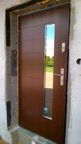 komplet drzwi wejściowe dębowe płytowe Jonny
