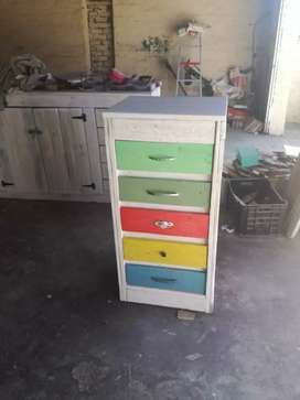 Cupboard with draws