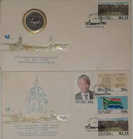 1994 Presidential Inauguration R5 coin sealed in envelope