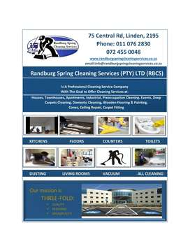 Randburg Spring Cleaning Services