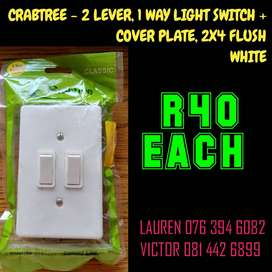 2 LEVER, 1 WAY LIGHT SWITCH