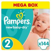 Подгузники Pampers New Baby-Dry Размер 2 Mini 3-6 кг, 144 шт