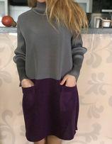 Платье женское брендовое модное в стиле Issey Miyake размер M-L