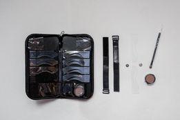 Брови 8 видов регулируемых трафаретов на застёжках, с тенями кистью