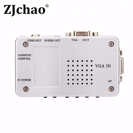 Конвертер ВИДЕО из VGA в AV RCA (тюльпан) S-video, переходник адаптер Кривой Рог - изображение 2