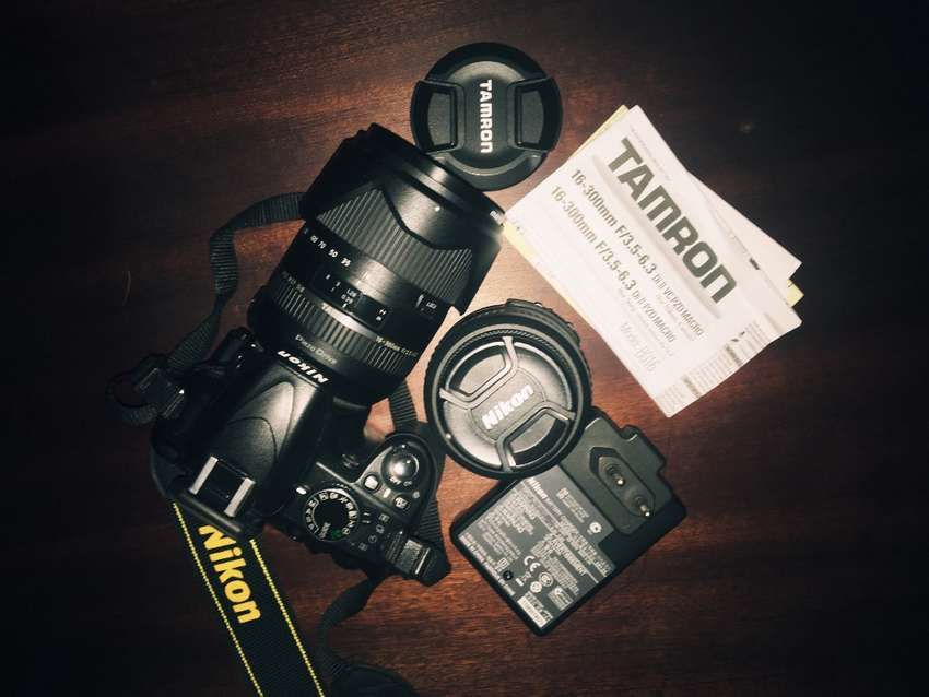 Nikon D3100 with Tamron Lens and Manfrotto Tripod 0