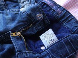 Теплые джинсы на девочку 5-6 лет(116рост)