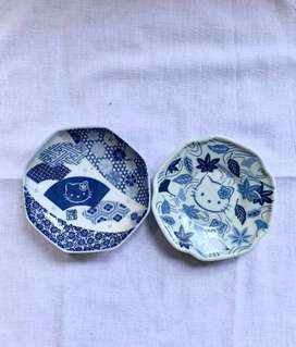 Hello Kitty Blue and White Sauce Saucer