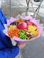 Фруктовые, овощные, колбасные, зефирные, конфетные букеты
