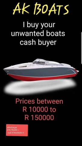 We buy youre boats and outboards