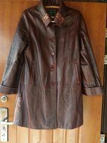 Пальто кожа/ плащ куртка кожаная