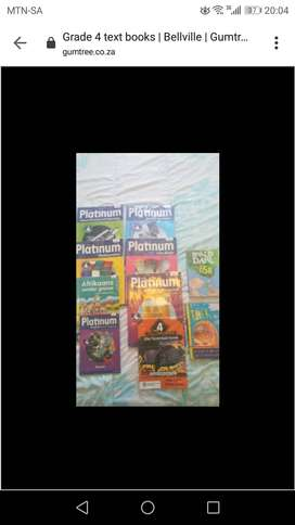 Grade 4 text books platinum range