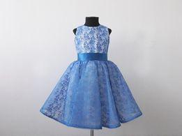 Нарядное платье на выпуск, платье с кружевом