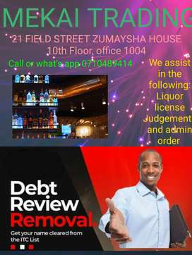 Clearance of debts and other services