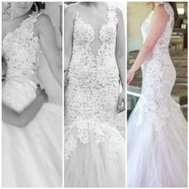 Wedding Dress turns into evening dress
