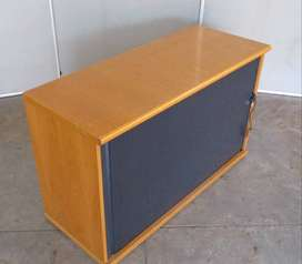 Roller door credenza plus shelf