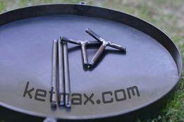 Сковорода+крышка+чехол 400 мм, полный комплект,из диска,садж,мангал
