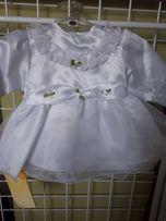 Sukieneczka do chrztu roz.62 nowa