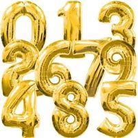 Гелиевые фольгированные шары цифры flexmetal на праздник подарок