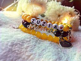 Personalizowane bransoletki z imieniem koraliki biżuteria