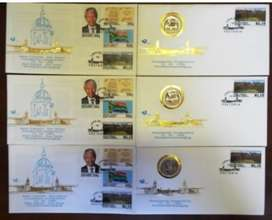 10 x Sets Mandela Inauguration FDC with proof R5 plus ordinary FDC