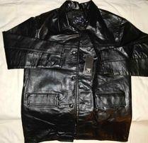 A Collezioni - czarna X69XL włoska kurtka skórzana