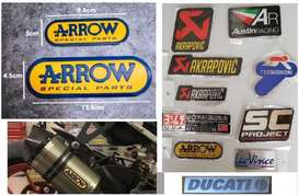Arrow Ducati heat proof exhaust silencer badges decals emblems