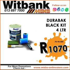 Duram Durabak Black Kit 4 LTR ONLY R1070 at Midas Witbank!