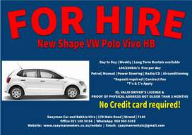 VW Polo Vivo HB (new shape) for Hire
