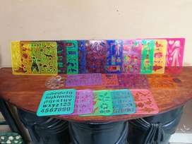 Collection of 20 plastic stencils.