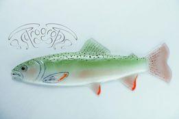 Светильник бра дизайнерский рыба форель из цветного стекла
