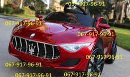 Детский электромобиль Мазерати+КОЖА+РЕЗИНА+АМОРТ дитячий електромобіль