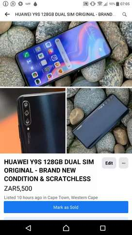 STUNNING HUAWEI Y9S 128GB DUAL SIM ORIGINAL NEW CONDITION SCRATCHLESS