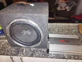 12inch sub sony and amp
