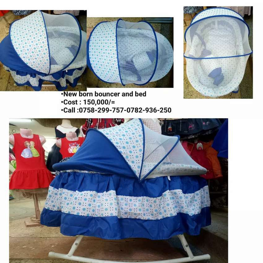 New born baby bouncer and bed 0