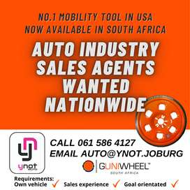 AUTO INDUSTRY SALES AGENTS WANTED
