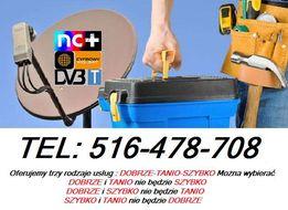 Montaż Anten Ustawianie Serwis TV SAT DVB-T SIECI LAN Wi-fi