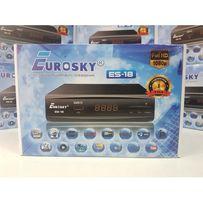 Цифровой Т2 тюнер приставка приемник EuroSky ES-18 AC3 Youtube IPTV