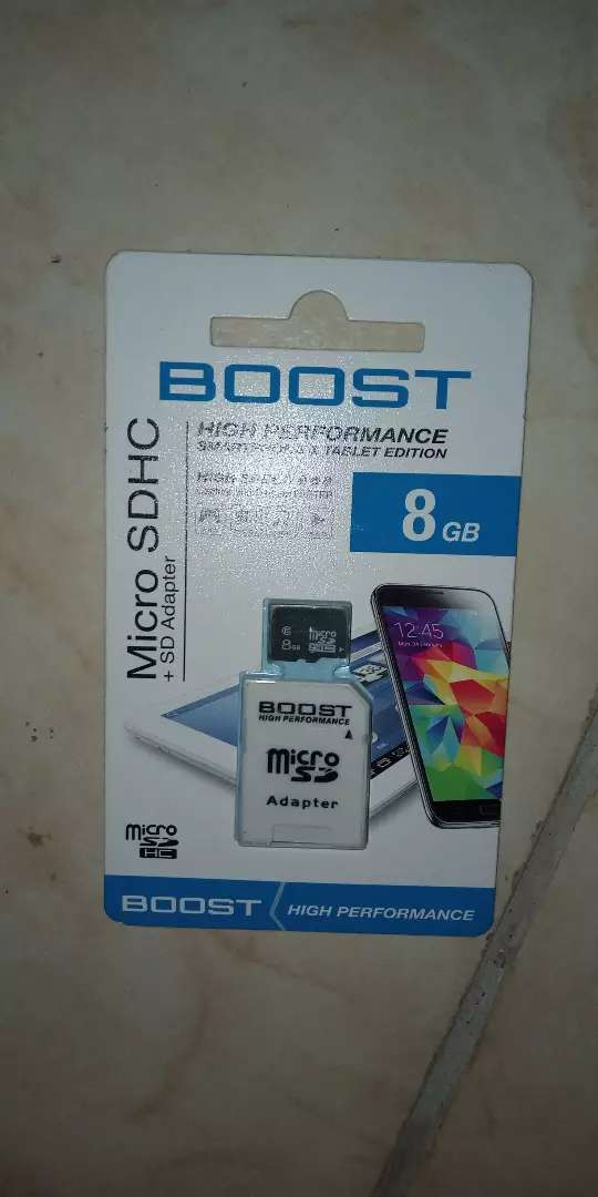 8GB Boost Micro Sd Card 0
