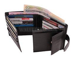 Мужской кожаный кошелек портмоне правник ST натуральная кожа турция.