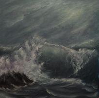 Картина маслом Море. Волна.