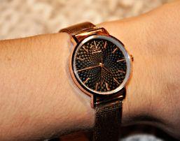 Shengke SK NOWY Złoty srebrny zegarek damski na bransolecie elegancki