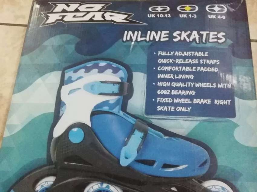 No fear in line skates (brand new )