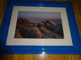 3 pictures in wooden frames