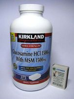 Глюкозамин+МСМ+Хондроитин. Kirkland(США). Glucosamine. БАД.витамин