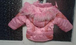 Зимний комбинезон и куртка для девочки 92р