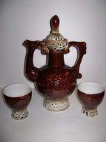 Кувшин и 2 чашки керамические