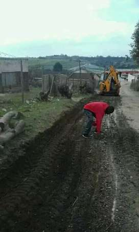 Construction of driveways paving