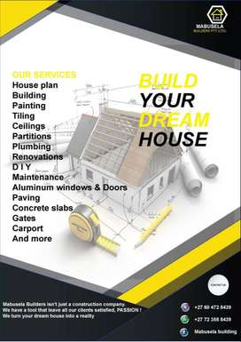 Mabusela Builders at your service at Mamelodi. Turn your dream home in